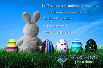 Felices Pascuas · Veronese Publicidad Integral.