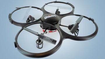 Drones de 4 rotores y giróscopos de 6 ejes para uso civil.