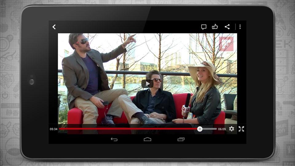 Video en un reproductor sobre un smartphone.