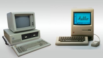 IBM PC versus Apple Macintosh.