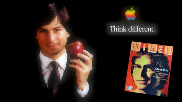 Steve Jobs en 1996, al reincorporarse a Apple.