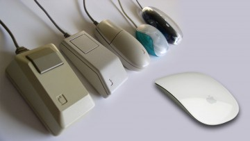 Evolución del mouse en Apple.