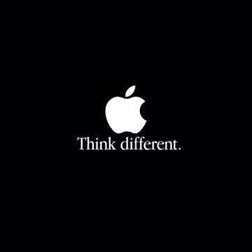 Apple: Think different.