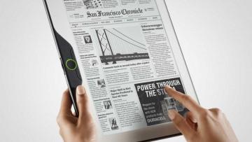 Medios tradicionales y nuevos medios: diario digital portátil.