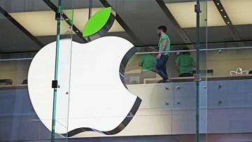 Isotipo de Apple con el agregado del verde en la hoja de la manzana.