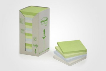 Post-it reciclables de papel reciclado de 3M.