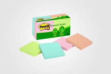 Post-it Greener Notes, la línea ecológica de Post-it, por 3M.