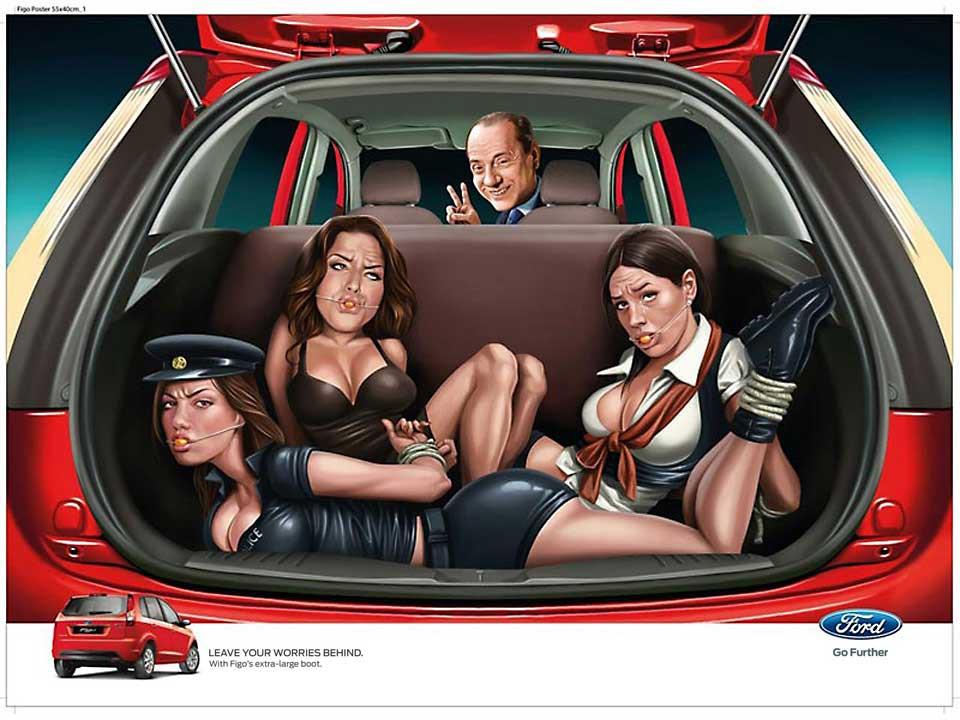 WPP, JWT y Ford: Berlusconi al volante. Veronese Producciones · Publicidad Integral.