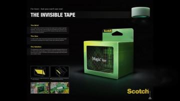 Gráfica para cinta Scotch Mágia: la cinta invisible.