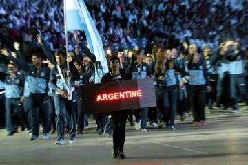 Delegación argentina en los Juegos Panamericanos.
