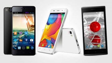 Teléfonos celulares made in India.