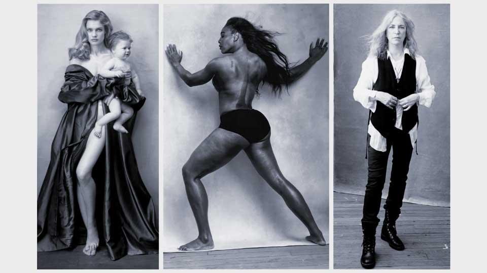 Calendario Pirelli 2016: Natalia Vodianova, Serena Williams y Patti Smith.