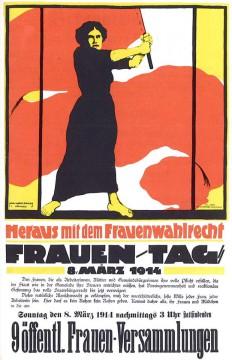 Día Internacional de la Mujer 2016: afiche de la convocatoria alemana de 1914.