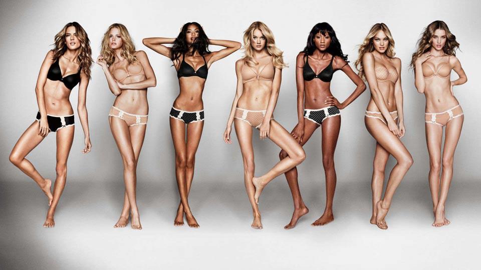 """Imagen de mujer según la controvertida campaña """"Love my body"""" de Victoria's Secret."""