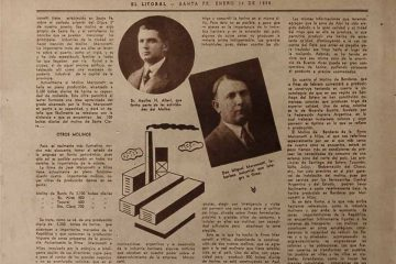 98 aniversario de El litoral, ejemplar del 1 de enero de 1936.