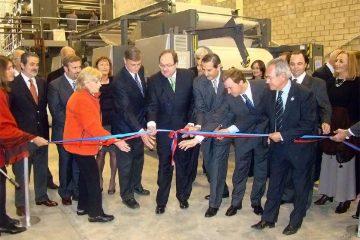 98 aniversario de El litoral: inauguración de AGL en mayo de 2009.