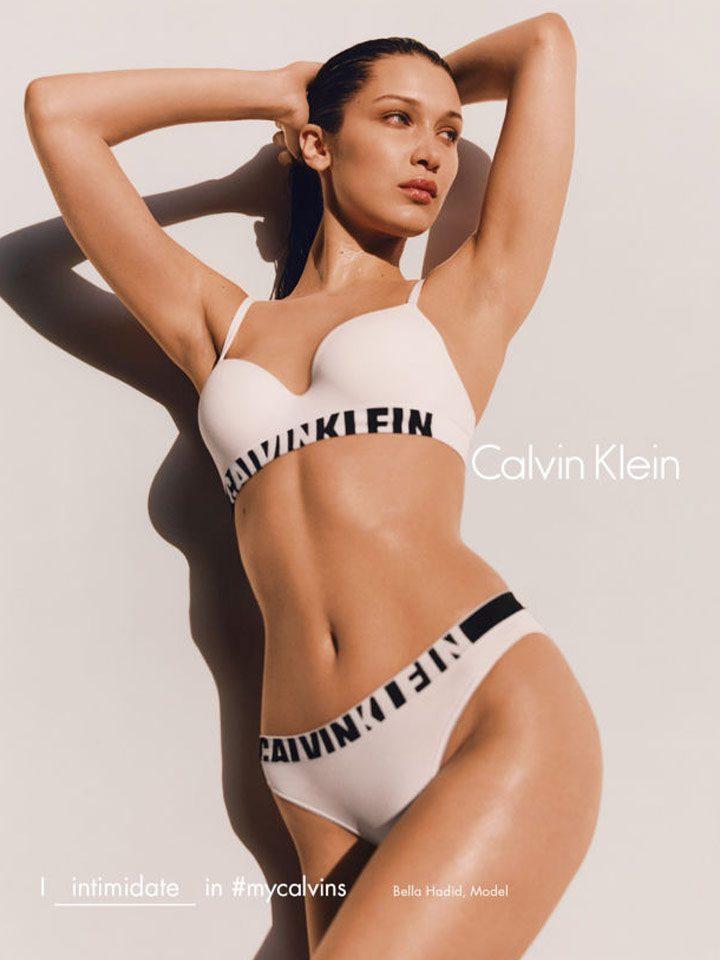Calvin Klein apuesta a perturbar: Bella Hadid intimida en sus calvins.