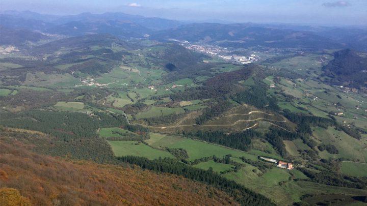 Vista actual del área de Orduña, provincia de Vizcaya, País Vasco (España).