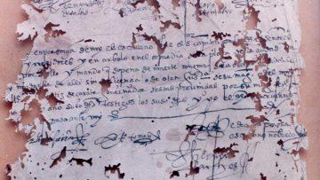 Fragmento del Acta de Fundación de la ciudad de Santa Fe de la Vera Cruz, 1573.