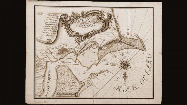 «Plano de la Barra de S. Lvcar de Barrameda, puerto de Bonansa […] y costa de Chipiona», 1765.