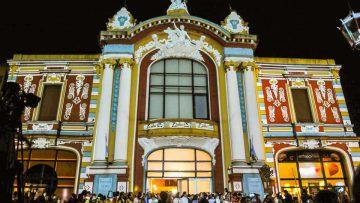 """Mercociudades: Fachada del Teatro Municipal """"1º de Mayo"""" de la ciudad de Santa Fe."""