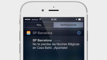 Las notificaciones push individualizadas deben enviar sólo información relevante para el usuario.