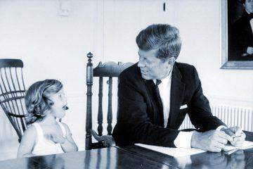 Caroline Kennedy y JFK en 1962.