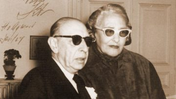 Victoria Ocampo con Igor Stravinsky.