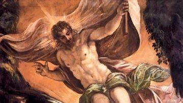 Detalle de La Resurrección de Cristo, Tintoretto (1578-1581).