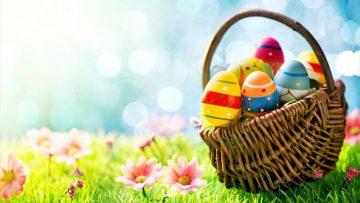 Pascua de Resurrección: Huevos de chocolate decorados.
