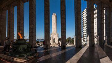 Monumento Histórico Nacional a la Bandera en Rosario, Santa Fe, Argentina.