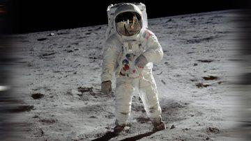Edwin Aldrin, fotografiado por Neil Armstrong en la Luna el 20 de julio de 1969.