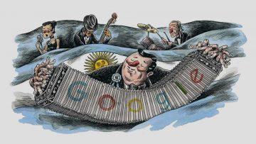 """""""Doodle"""" de Google del 9 de julio de 2017 realizado por Liniers."""