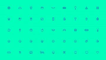 I+D/PedidosYa: íconos para la nueva marca 2017.