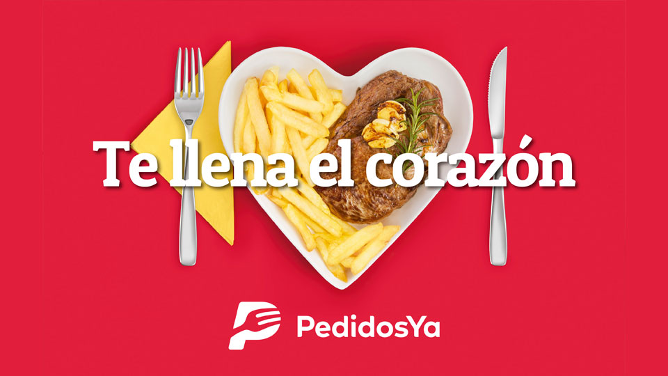 PedidosYa y el chivito uruguayo. Te llena el corazón.