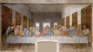 """""""La última cena"""", mural de Leonardo da Vinci."""