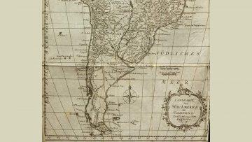 Mapa de América del Sur perteneciente al libro de Joachim Heinrich Campe.