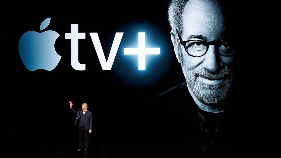 Steven Spielberg en el Special Apple Event 2019.