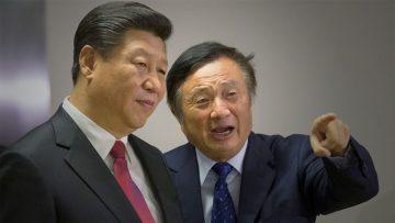 El presidente Xi Jinping y el magnate Ren Zhengfei.
