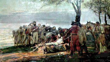 La muerte de Güemes, óleo de Antonio Alice.