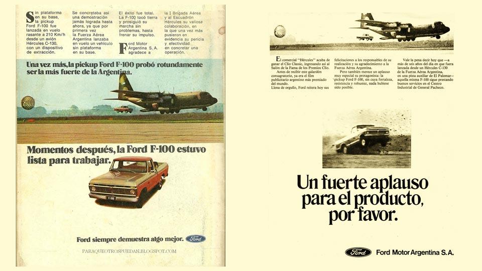 Veronese: la Ford F-100 en caída libre.