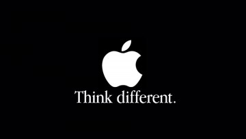 """Think different"" (Piense diferente), por Apple."