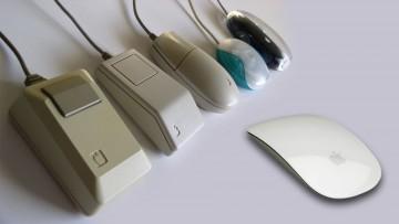 Evolución del mouse en Apple.