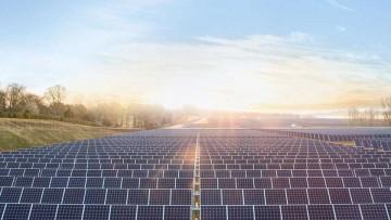 Planta solar de Apple que suministra energía al centro de datos de Maiden, Carolina del Norte.