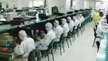 Apple: Planta manufacturera de Foxconn en China.