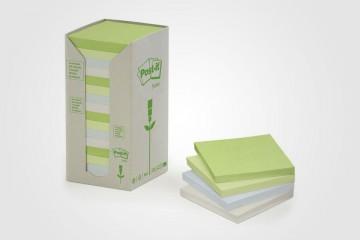 Post-it reciclables de papel reciclado de 3M.