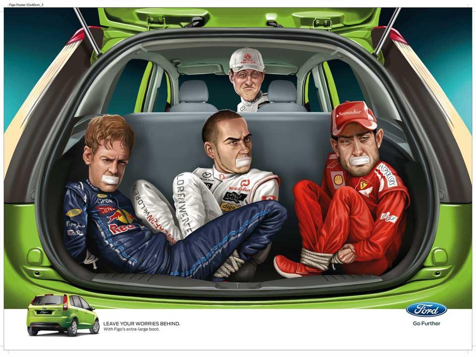 WPP, JWT y Ford: Schumacher al volante. Veronese Producciones · Publicidad Integral.
