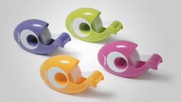 Nuevo dispensador de cinta Scotch modelo Contour en varios colores.
