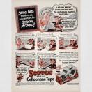 Scotty McTape en un anuncio de cinta Scotch para uso escolar