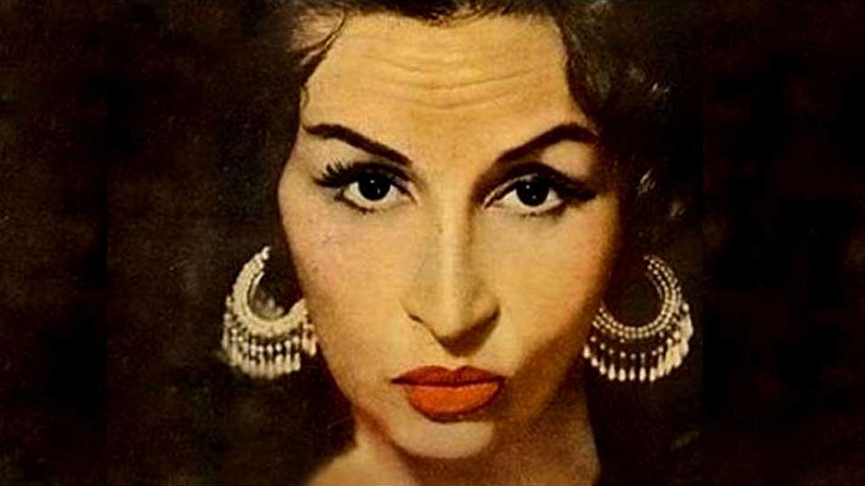 Ilustración en colores sobre una foto blanco y negro original de Tita Merello.